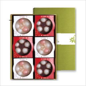 紅白白玉ぜんざい6個入セット商品画像
